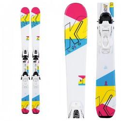 K2 Luv Bug  7 holčičí set lyže + vázání 2020 pro větší děti