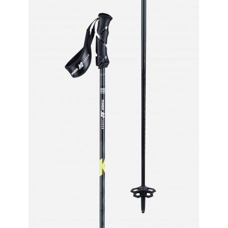 K2 Power carbon yellow lyžařské hůlky 2020/21