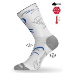 Inline ponožka Lasting  bílo-modrá