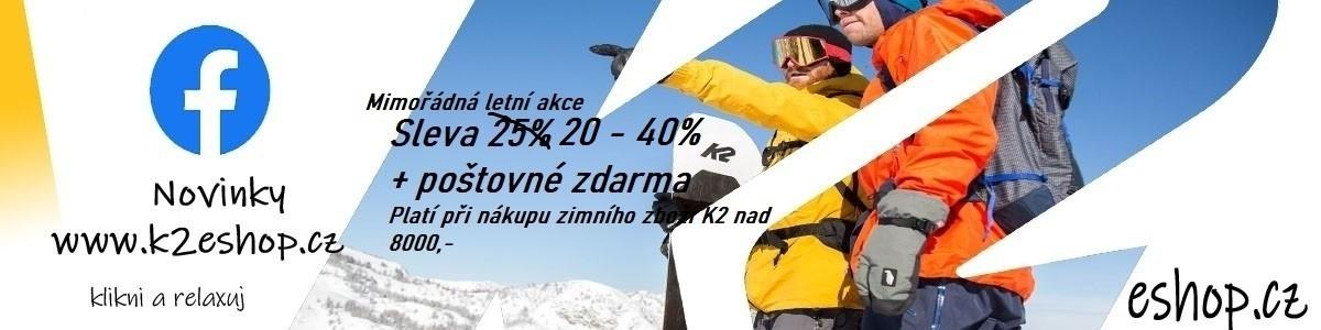 Letní sleva od 20% na zimní zboží K2